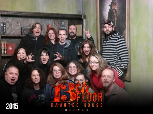 The night before heading up to Estes Park, Chris and I visited The Thirteenth Floor, a local haunted house attraction in Denver. Great effects and actors, tons of fun.