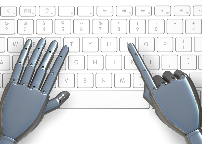 Robot hand with keyboard
